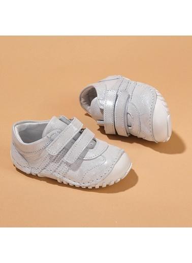 Kiko Kids Kiko Kids Teo 138 %100 Deri Orto pedik Cırtlı Kız Çocuk Ayakkabı Gümüş